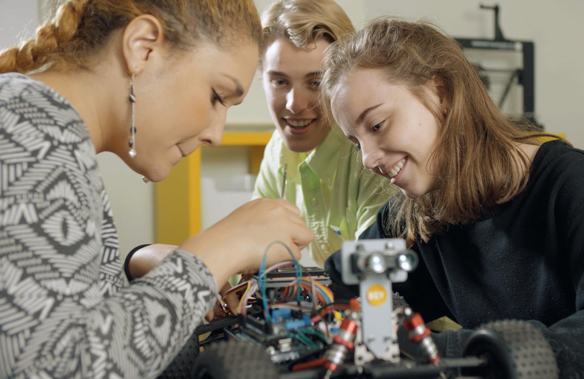 Elever på teknikprogrammet